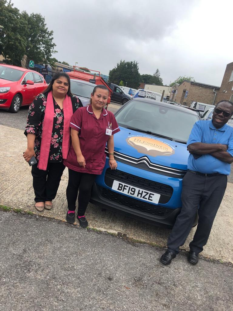 Blessings Healthcare acquires cars for their Staff